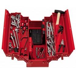 645/5LM183- Caja extensible de 5 compartimentos modelo largo con surtido (183 pzas)