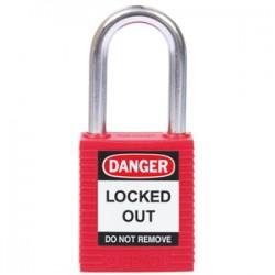 Candados seguridad estándar con arco de acero endurecido- Rojos