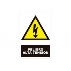 Señal de PELIGRO ALTA TENSIÓN- Texto