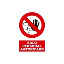 Señal SOLO PERSONAL AUTORIZADO- Texto