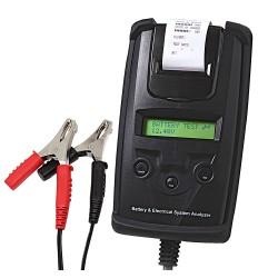 Comprobador digital de baterías con impresora