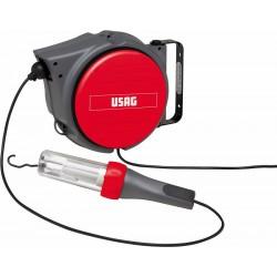 889 KB- Enrollador de cable con lámpara portátil