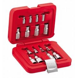 "601 JR 1/4""-1/2"" JTX16- Surtido de llaves de vaso TORX en caja modular (16 pzas)"